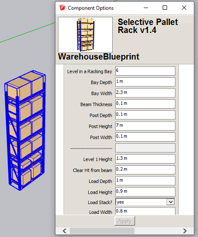 editing common warehouse elements in sketchup