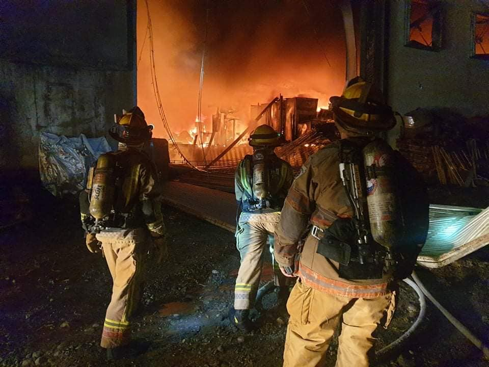 Fire engulfs warehouse in Antipolo Philippines