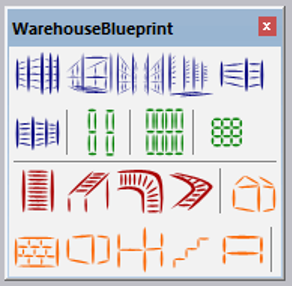 Common warehouse elements in warehouseblueprint sketchup extension