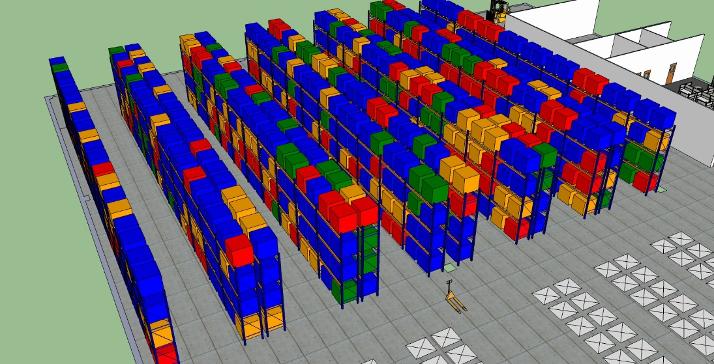 warehouseblueprint heatmap 3D visualizaton