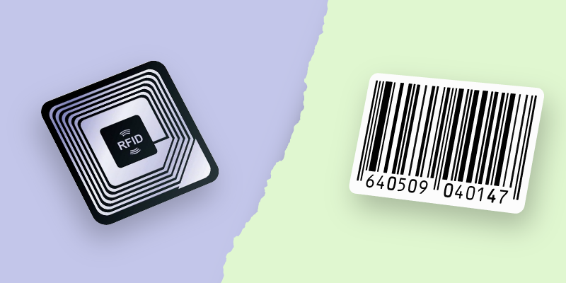 Difference of rfid and barcode