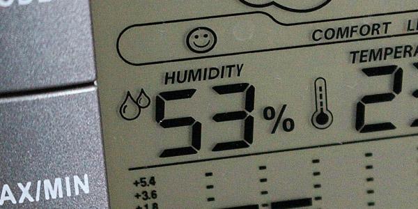 wine storage humidity monitoring