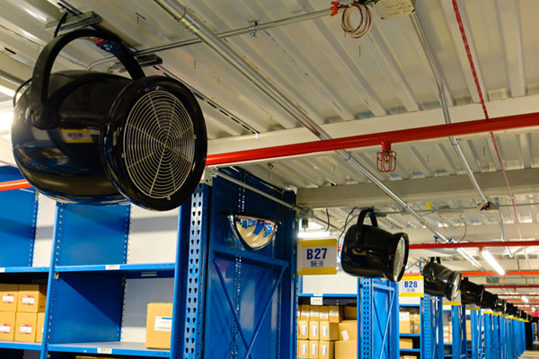 A Destratification Fans for ware house ventilation