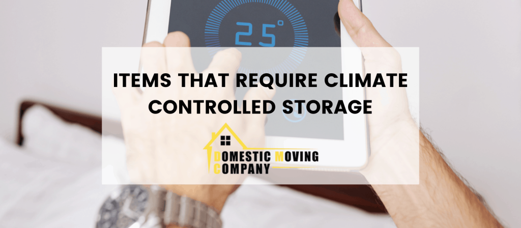 items that need Climate-Controlled Storage